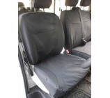Nissan Primastar 9 seater mini bus seat cover - Waterproof Black Made to Measure Set