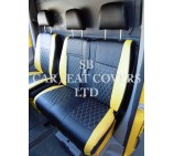VW Crafter 2006 Onwards Van Seat Covers - Rossini Bentley Diamond Yellow & Black