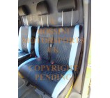 VW Crafter 2006 Onwards Van Seat Covers - Rossini Bentley Diamond Blue & Black