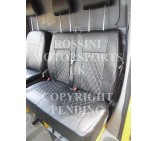 VW Crafter 2006 Onwards Van Seat Covers - Rossini Bentley Diamond Stitch Black