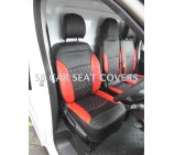 Renault Trafic Van (2014 - 2016) Seat Covers - Rossini Bentley Diamond Red & Black