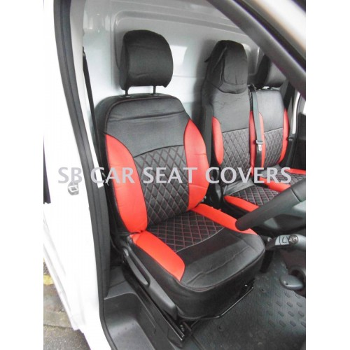 2+1 RED  FABRIC RED SEAT COVERS FOR RENAULT TRAFIC NEW