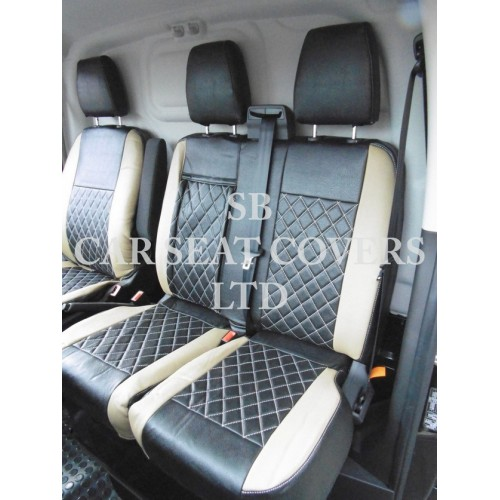 2+1 GREY BLACK SOFT /& COMFORT FABRIC SEAT COVERS FOR IVECO DAILY VAN NEW