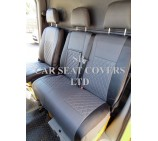 VW Crafter 2006 Onwards Van Seat Covers - Rossini Bentley Diamond Stitch Grey & Black