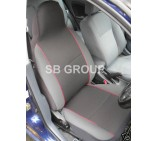 Peugeot Partner van seat covers charcoal grey with red piping- 2 fronts