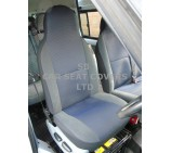Ford Transit 9 seater mini bus seat covers - black leatherette made to measure set