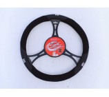Citroen Nemo Van Models SWC 25M Black - Suede Leather Steering Wheel Cover