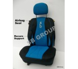 VW Transporter T5 van seat covers in SB Blue 2 singles