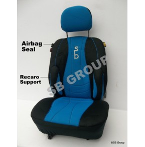 Suzuki Carry van seat covers in SB Blue 2 singles