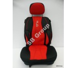 VW Transporter T4 van seat covers in SB Red 2 singles